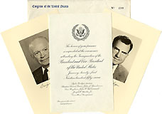 1957 Official Inaugural Invitation