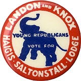 Young Republicans Vote for Landon and Knox