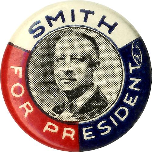 Alfred E. Smith: Uncommon SMITH FOR PRESIDENT picture button