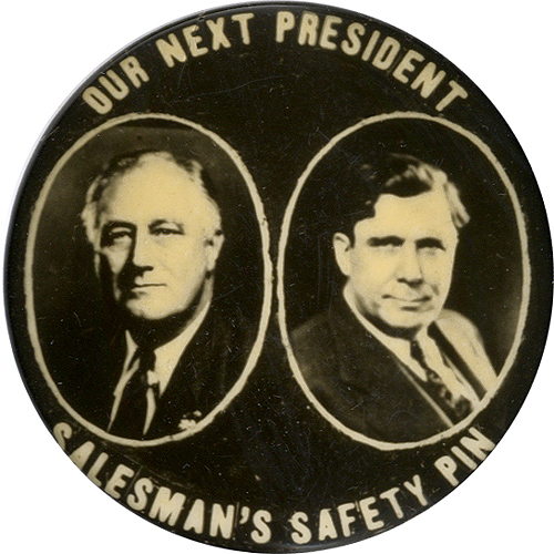 Roosevelt vs. Willkie: Salesman's Safety Pin