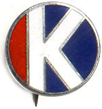 Robert Kennedy: Official campaign staff lapel pin