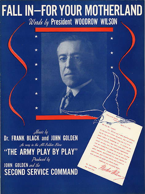 Woodrow Wilson: Fall In for Your Motherland sheet music
