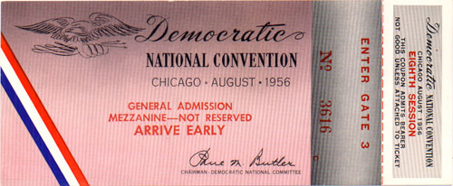 1956 DNC Chicago - General Admission