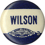 Woodrow Wilson: Mini name celluloid pinback
