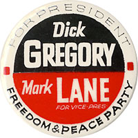 Dick Gregory Mark Lane / Freedom & Peace Party
