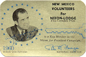 New Mexico Volunteers for Nixon-Lodge