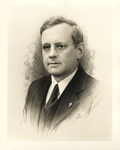 Alfred Landon signing photo