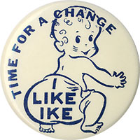 Dwight Eisenhower: Classic Time for a Change diaper button