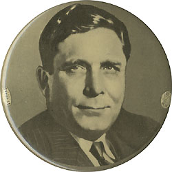Wendell Willkie: Large picture litho button
