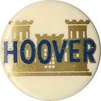 Herbert Hoover: Scarce pinback worn by engineers