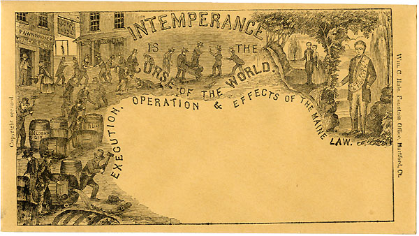 Intemperance is the Curse of the World.