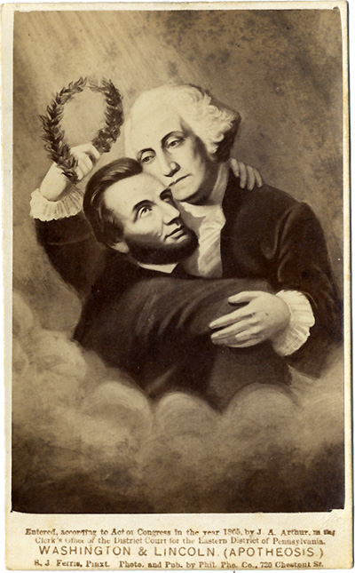 Washington & Lincoln. (Apotheosis.)