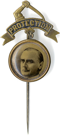 William McKinley: PROTECTION arm-and-sword portrait badge