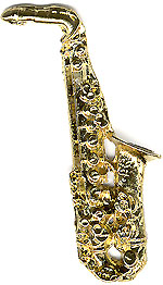 Bill Clinton saxophone lapel pin