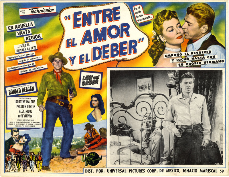 Ronald Reagan: Rare 1953 Spanish language movie poster