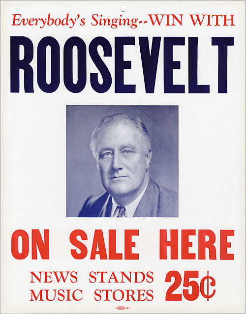 Everybody's Singing - - WIN WITH ROOSEVELT