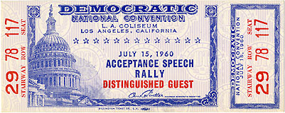 1960 DNC Los Angeles - Acceptance Speech Rally