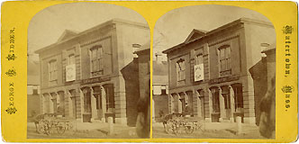 Rare Massachusetts Grant Club Campaign Headquarters Stereoview