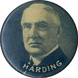 Warren Harding: Scarce celluloid portrait pinback