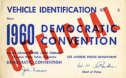 1960 Democratic Convention Vehicle Identification