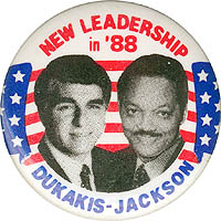 New Leadership in '88 Dukakis Jackson