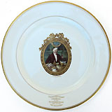 Woodrow Wilson: 1912 Syracuse New York banquet plate