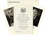 Johnson and Humphrey: 1965 Official Inaugural Invitation