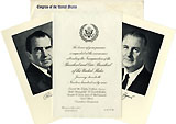 Nixon and Agnew: Official 1969 Inaugural invitation