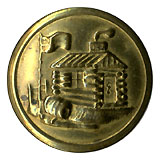 William Henry Harrison: Unlisted log cabin clothing button