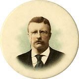 Theodore Roosevelt: Scarce larger chromo pinback