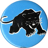 Black Panthers: Classic springing panther button