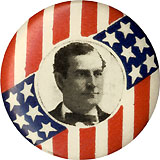 William Jennings Bryan: Stars and stripes lapel stud