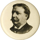 William Howard Taft: Unusual portrait pinback
