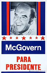 George McGovern: PARA PRESIDENTE California primary rally poster