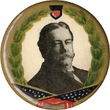 William Howard Taft: Uncommon wreath-and-flags pinback