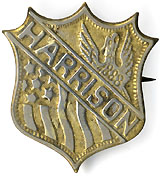 Benjamin Harrison: Unlisted shield shell badge
