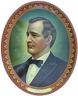 William Jennings Bryan: Lithographed tin serving tray