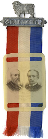 Harrison and Reid: Rare Home Markets jugate ribbon badge