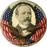Alton B. Parker: Patriotic Baltimore Badge portrait pinback
