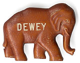 Thomas Dewey: Republican elephant celluloid pin
