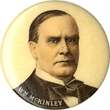 William McKinley: Cream background variant pinback