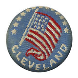 Grover Cleveland: American flag lapel stud