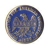 Benjamin Harrison: Protection for American Industries lapel stud