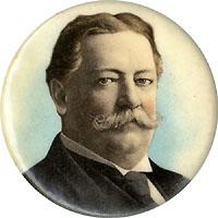 William Howard Taft: Uncommon size chromo pinback