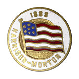 Harrison and Morton: Unlisted enamel flag lapel stud