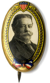 William Howard Taft: Scarce oval celluloid pinback