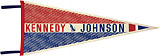 Kennedy and Johnson: Democratic convention souvenir pennant