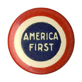 American Isolationism: America First WWI era pinback