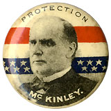 William McKinley: Protection McKinley scarce lapel stud