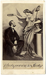 Abraham Lincoln: Liberty crowning her Martyr CDV